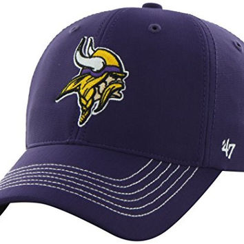 NFL Minnesota Vikings '47 Brand Game Time Closer Stretch Fit Hat, Purple, One Size Stretch