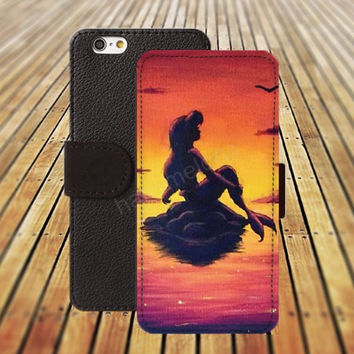 iphone 5 5s case dream little mermaid colorful iphone 4/4s iPhone 6 6 Plus iphone 5C Wallet Case,iPhone 5 Case,Cover,Cases colorful pattern L299