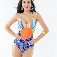 2017 Trending Fashion Women One-Piece Swimwear Swimsuit Bikini _ 13047