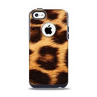 The Real Cheetah Print Apple iPhone 5c Otterbox Commuter Case Skin Set