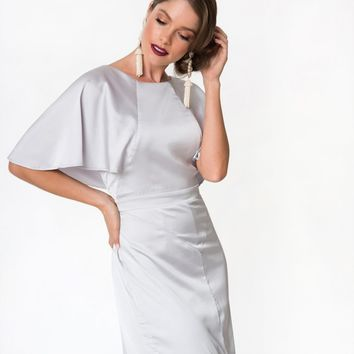 Collectif Vintage Inspired Silver Martine Capelet Gown