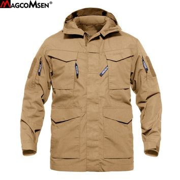 MAGCOMSEN Tactical Jacket Men US Army Military Army Field Jacket Hooded Trench Coats Casaco Masculino Windbreaker Men AG-CM-02