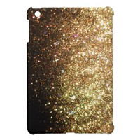 Gold Christmas Glitter Print Sparkle iPad Mini Case For The iPad Mini from Zazzle.com