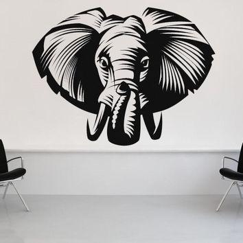 Elephant Wall Decal Animal Vinyl Wall Stickers Rooms Poster Nursery Africa Home Decor Art Mural Adhesive DIY DecalSY162