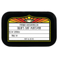 Theatre Place Card Personalized Bar/Bat Mitzvah Placecard Mint Tins great for weddings, parties, bar/bat mitzvahs. Candy Favors!