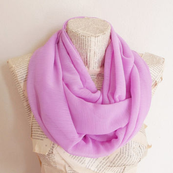 Lilac infinity scarf , Loop Scarf, Circle Scarf, Christmas Gifts Idea