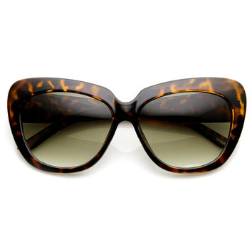 Oversize Womens Designer Cateye Fashion Sunglasses 9163