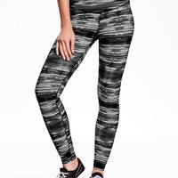 Old Navy High Rise Patterned Compression Leggings