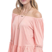 Coral Coast Off The Shoulder Peasant Top