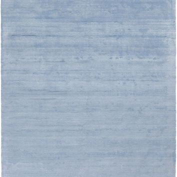 Pure Solids and Borders Area Rug Blue