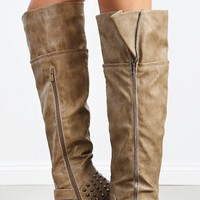 Legend-32 Over The Knee Spike Riding Boots | MakeMeChic.com