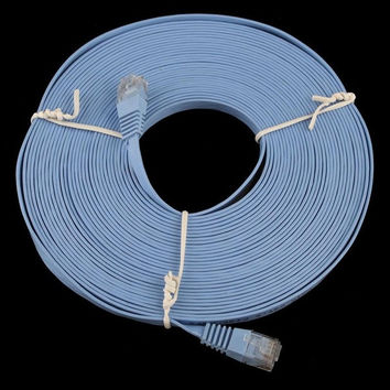 30FT 10M CAT6 CAT 6 Flat UTP Ethernet Network Cable RJ45 Patch LAN Cord = 1930062084
