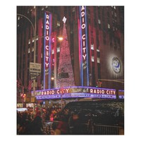 Photo of Radio City Music Hall in NYC Fleece Blanket