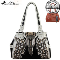 Montana West MW137G-8036 Buckle Concealed Carry Handbag