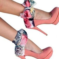 Multi Pumps / High Heels - Multicolor Heel Condoms | UsTrendy