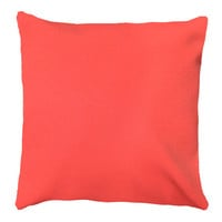 Coral Throw Pillow Cover- Orange Pillow Cover- Coral Solid Pillow- Coral Accent Pillow Cover- 18 x 18 Pillow Cover