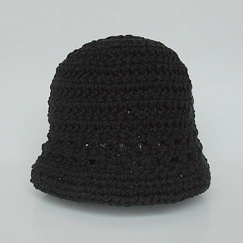 Newborn  Black Hat Infant  Boy  Spring Cotton  Cap 0 To 3  Month Old Baby Girl  Summer  Beanie