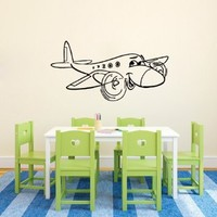 Wall Decals Vinyl Decal Sticker Toy Plane Art Design Baby Nursery Room Nice Picture Decor Hall Wall Chu1307