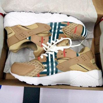 """NIKE""HURACHE BURBERRY AIR Huarache Running Sport Casual Shoes Sneakers"