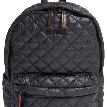 'Small Metro' Quilted Oxford Nylon Backpack