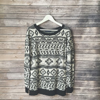 Veronica Printed Gray Sweater