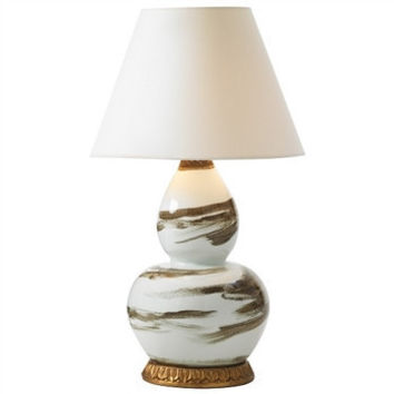Bunny Williams Home Brush Stroke Brown Table Lamp