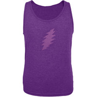 Grateful Dead - Purple Lightning Bolt Dark Purple Soft Tank Top
