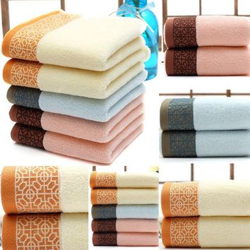 Luxury Cotton Towels Soft Absorbent Bath Sheet Hand Bathroom Towels Wash Cloth