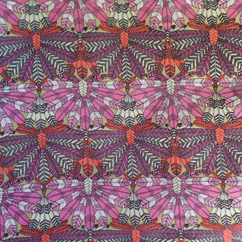 Liberty Art Fabrics Silk Chiffon Dakota in Pink per Half Yard