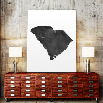 South Carolina Watercolor Printable Art Poster State Poster Wall Art large watercolor South Carolina Poster State Watercolor Map Watercolor