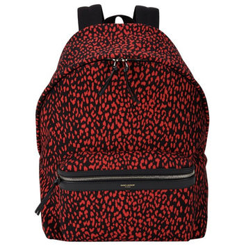 Saint Laurent Red Exotic Print Backpack