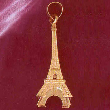 14K GOLD EIFFEL TOWER CHARM/PENDANT 3D # 4916