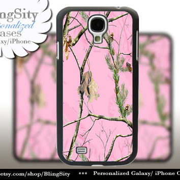 Pink Camo Monogram Galaxy S4 case S5 Real Tree Camouflage Personalized Samsung Galaxy S3 Case Note 2 3 Cover Country Girl