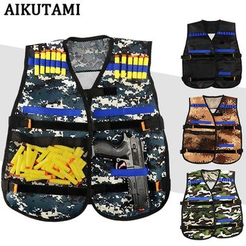 Outdoor Adjustable Quick-drying Nerf Tactical Vest Embroidery Hunting Kit for N-strike Elite Games Hunting Vest Toy