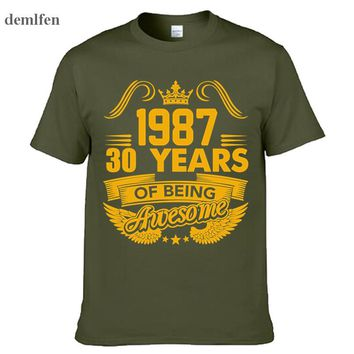1987 Year 30 Years Of Being Awesome Funny T-shirt Brothers Gift Cotton Short Sleeve T Shirt Novel Men tshirt Tees Tops