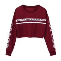 Realist Crop Top Sweater - Wine
