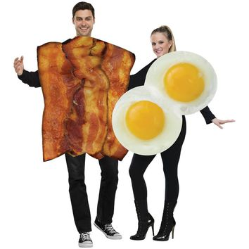 Bacon Eggs Adult Couples Costumes