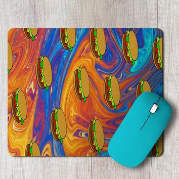 Rectangle Mouse Pad Burger Pattern Phone Case