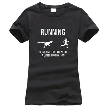 Funny Motivate Runners printed women t-shirt 2017 summer fashion harajuku brand korean tee shirt femme fitness punk top clothing