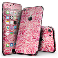Pink Watercolor Leopard Pattern - 4-Piece Skin Kit for the iPhone 7 or 7 Plus