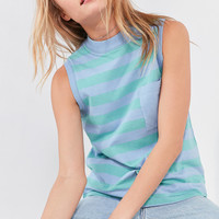 BDG Striped Mock-Neck Tank Top | Urban Outfitters