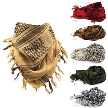 Shemagh Bandana Palestine Islamic Military Scarves Multifunction Tactical cotton head Scarf square Thicken Arabic Keffiyeh Wrap