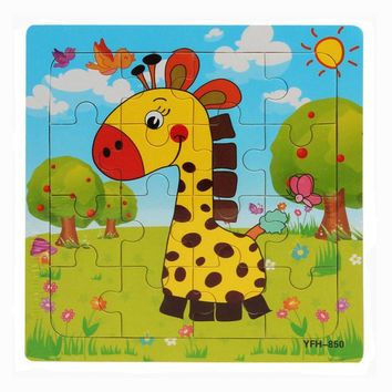 Hot selling Wooden Puzzle Educational Developmental Baby Kids Training Toy Gift  Animal Puzzle toys For Children Lowest Price