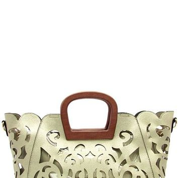Laser Cut Tote Bag 2 In 1