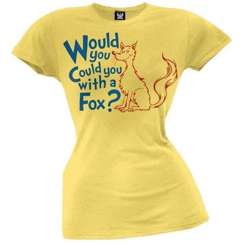 PEAPGQ9 Dr. Seuss - With a Fox Juniors T-Shirt