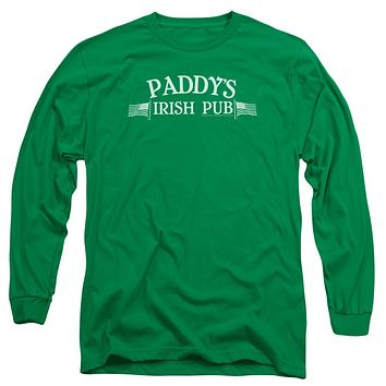 Its Always Sunny In Philadelphia Paddys Logo Mens Long Sleeve Shirt