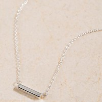 Sterling Silver Bar Pendant Necklace