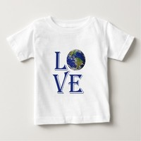 Love the world our planet tee shirt
