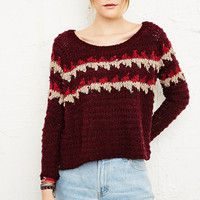 Free People Fuzzy Fair Isle Sweater - Urban Outfitters