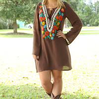 Judith March: The Colors Of Fall Dress: Brown/Multi